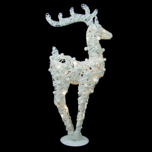 Battery Operated Glittered LED Lighted Reindeer Christmas Decoration