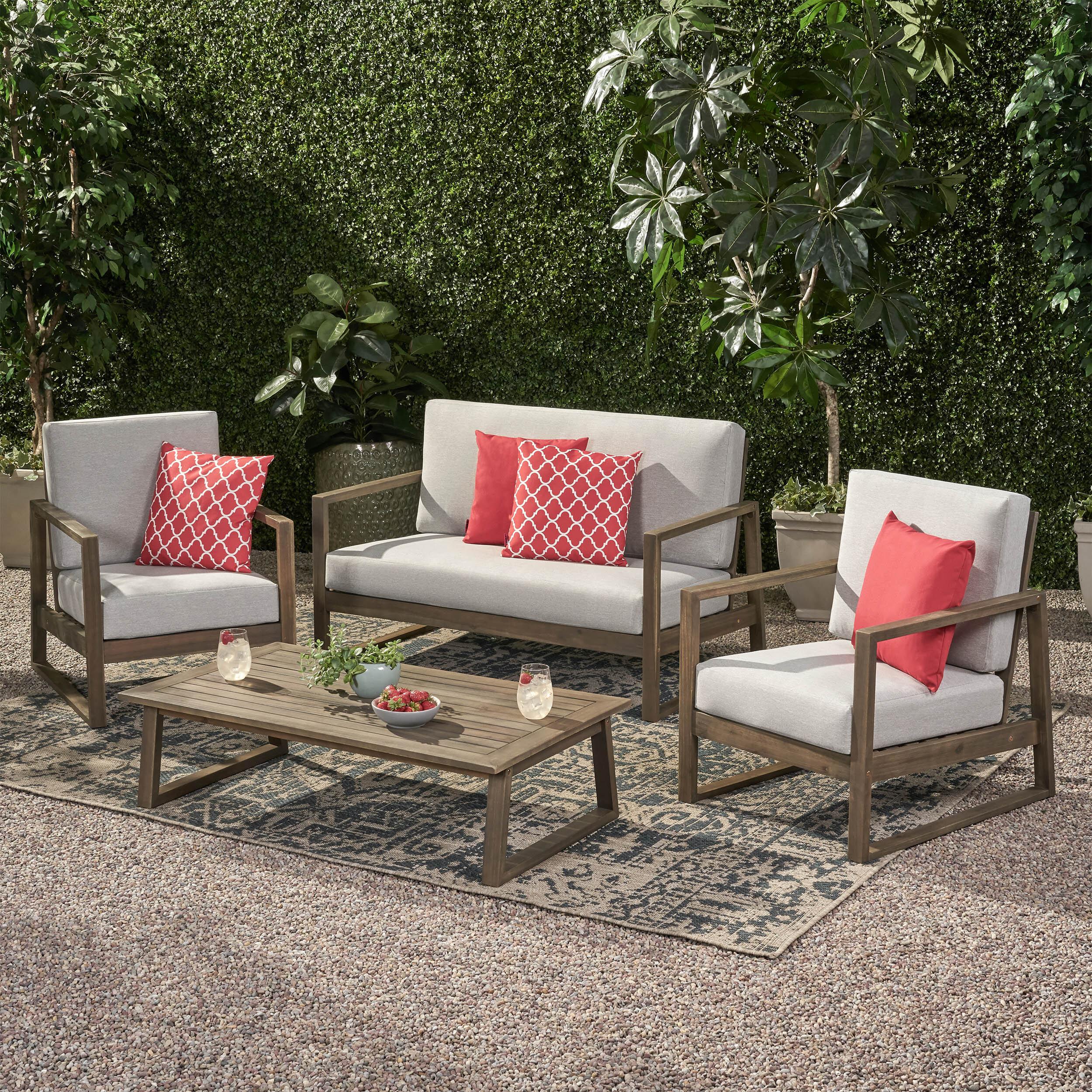 Lounge Deep Seating Mid Century Modern Patio Conversation Sets You Ll Love In 2021 Wayfair