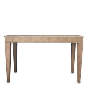 Serge De Troyer Collection Leather Console Table
