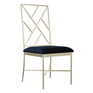 Fretwork Upholstered Dining Chair by Worlds Away