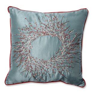 Alaine Christmas Wreath Throw Pillow by Red Barrel Studio Find