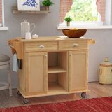Lili Kitchen Island with Wood Top by August Grove®