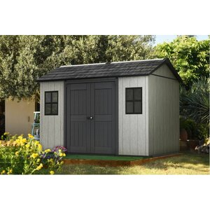 Oakland 11 ft. W x 7 ft. 6 in. D Plastic Storage Shed