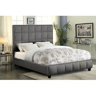 Loft Grid Tufted Upholstered Panel Bed