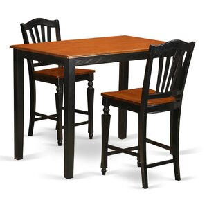 Yarmouth 3 Piece Counter Height Pub Table Set by..