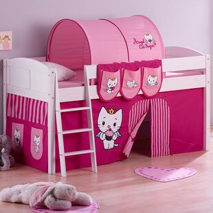 Angel Cat Sugar European Single Mid Sleeper Bed with Bottom Bunk Curtain by Just Kids
