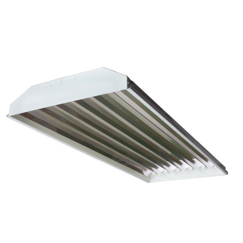 Howard Lighting 6-Light High Bay Fluorescent Light Fixture with 54W ...