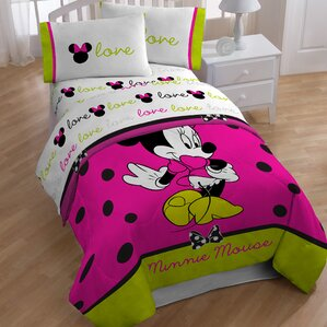minnie 4 piece toddler bedding set
