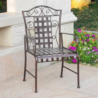 Abbottsmoor Patio Dining Chair Darby Home Co Color: Hammered Bronze