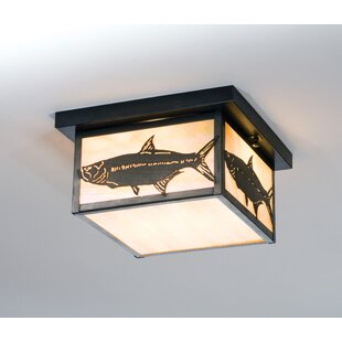 Meyda Tiffany Tarpon 2-Light Flush Mount