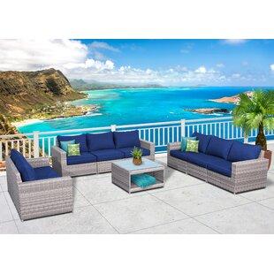 Longshore Tides Burkley Olefin 9 Piece Sofa Seating Group