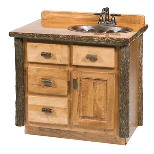 Purchase Hickory 36 Bathroom Vanity Base Only By Fireside Lodge