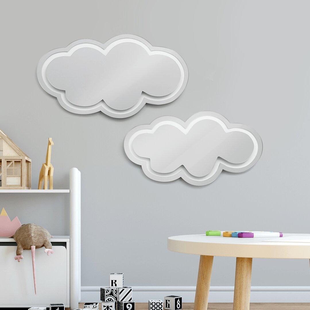 Mirror Reflections Lion Elepha Wall decor Decal Stickers Kids Room Nursery Decor