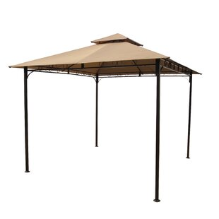 International Caravan St. Kitts 9.6 Ft. W x 9.6 Ft. D Steel Patio Gazebo