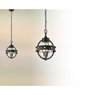 Gracie Oaks Lucilo 3-Light Outdoor Pendant