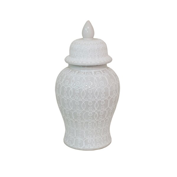 Jorge Ceramic Temple Jar Wayfair