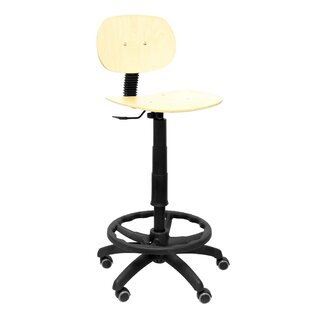 Wooden Height Adjustable Swivel Bar Stool By Symple Stuff