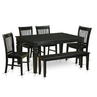 Beachcrest Home Pennington Traditional 6 Piece Dining Set