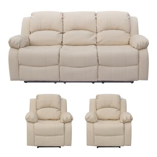 Kennon 3 Piece Reclining Sofa Set By Ebern Designs