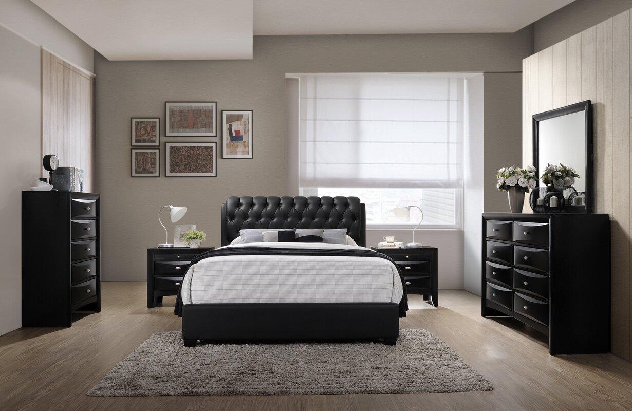 6 piece bedroom set. Blemerey 6 Piece Bedroom Set Roundhill Furniture  Reviews Wayfair