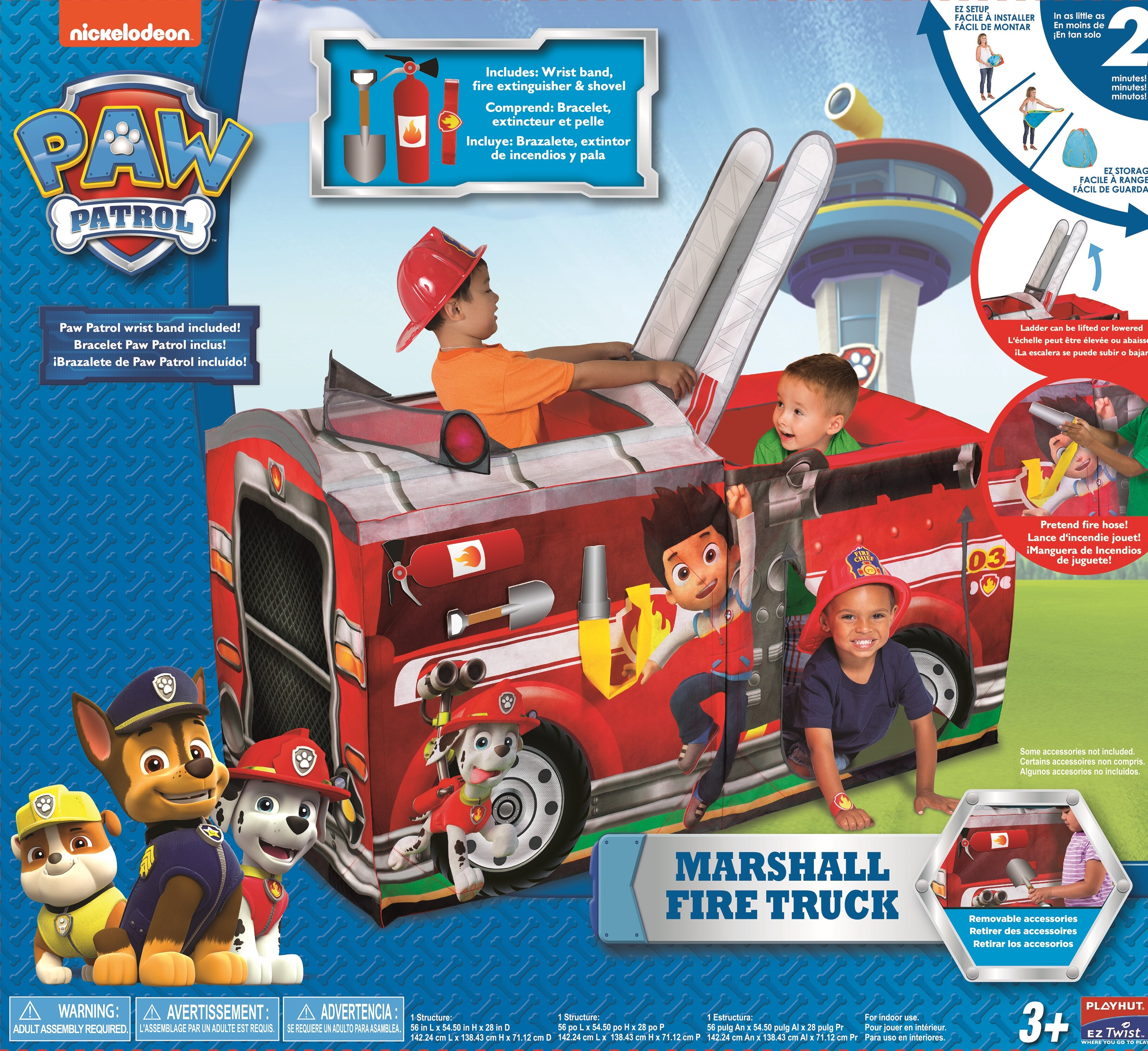 playhut paw patrol marshall fire truck pop up play tent reviews