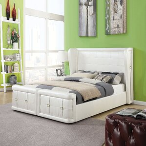 Jourdan Upholstered Panel Bed by Latitude Run