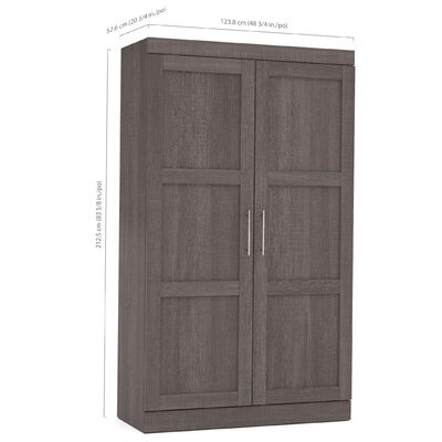 Navarro Wardrobe Armoire Color: Bark Gray