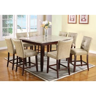 Estefana 9 Piece Counter Height Dining Set