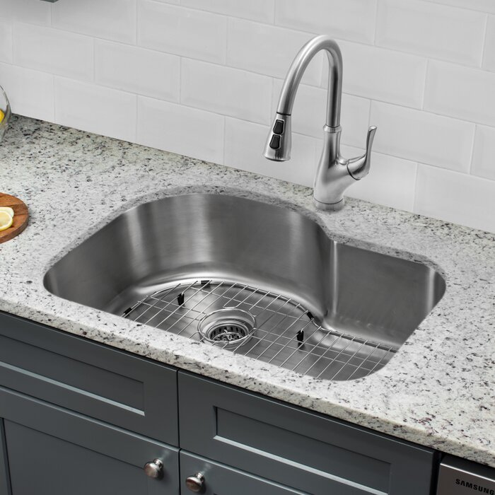 31 5 L X 21 13 W Single Bowl Undermount Kitchen Sink With Faucet
