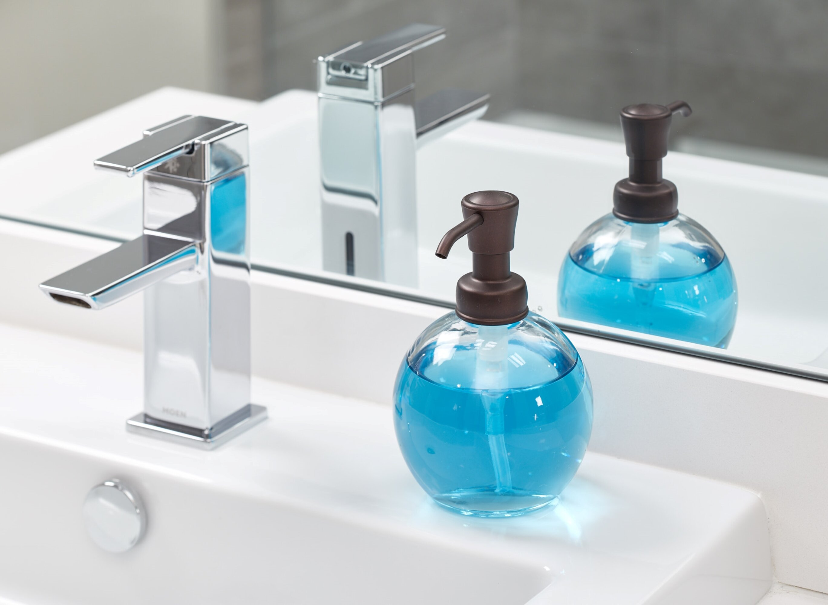 Together is Our Favorite 16 oz Glass Soap Dispenser