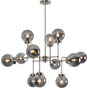 Brayden Studio Melorse 12-Light Sputnik Chandelier