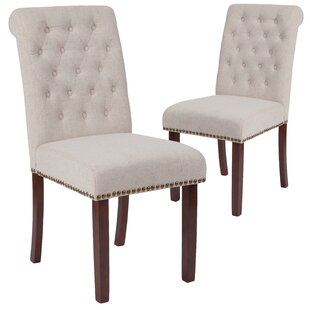 Fransen Upholstered Dining Chair Set of 2 by Charlton Home