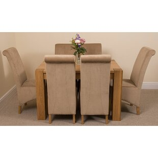 Sales Stainbrook Chunky Kitchen Dining Set With 6 Chairs