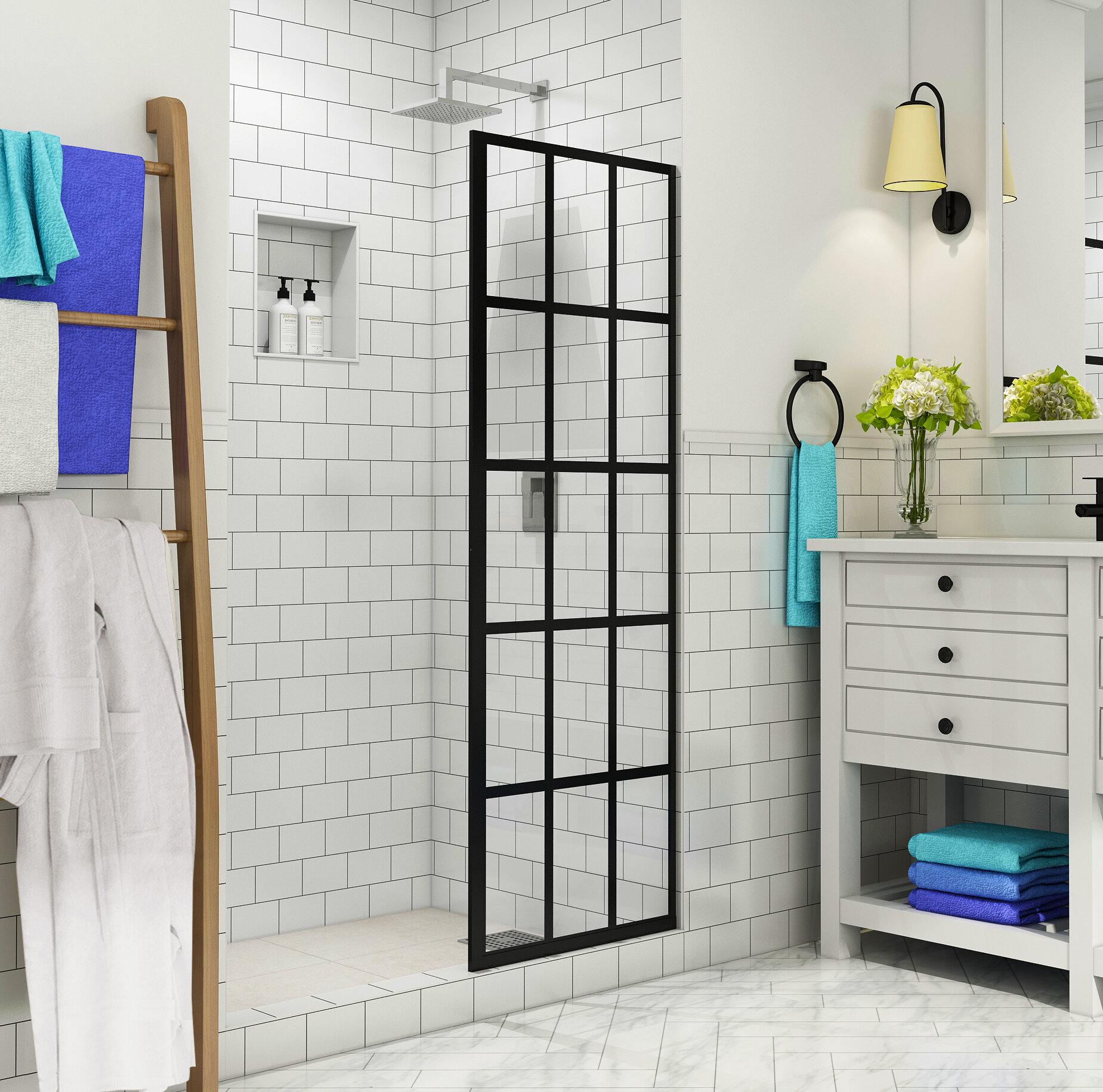French Durance 24 X 72 Frameless Fixed Gl Panel