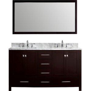 Double Vanity Tops For Bathrooms shop 9,988 bathroom vanities | wayfair