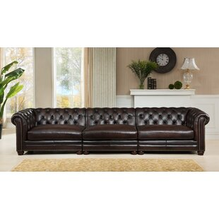 Lesa Leather Chesterfield Sofa