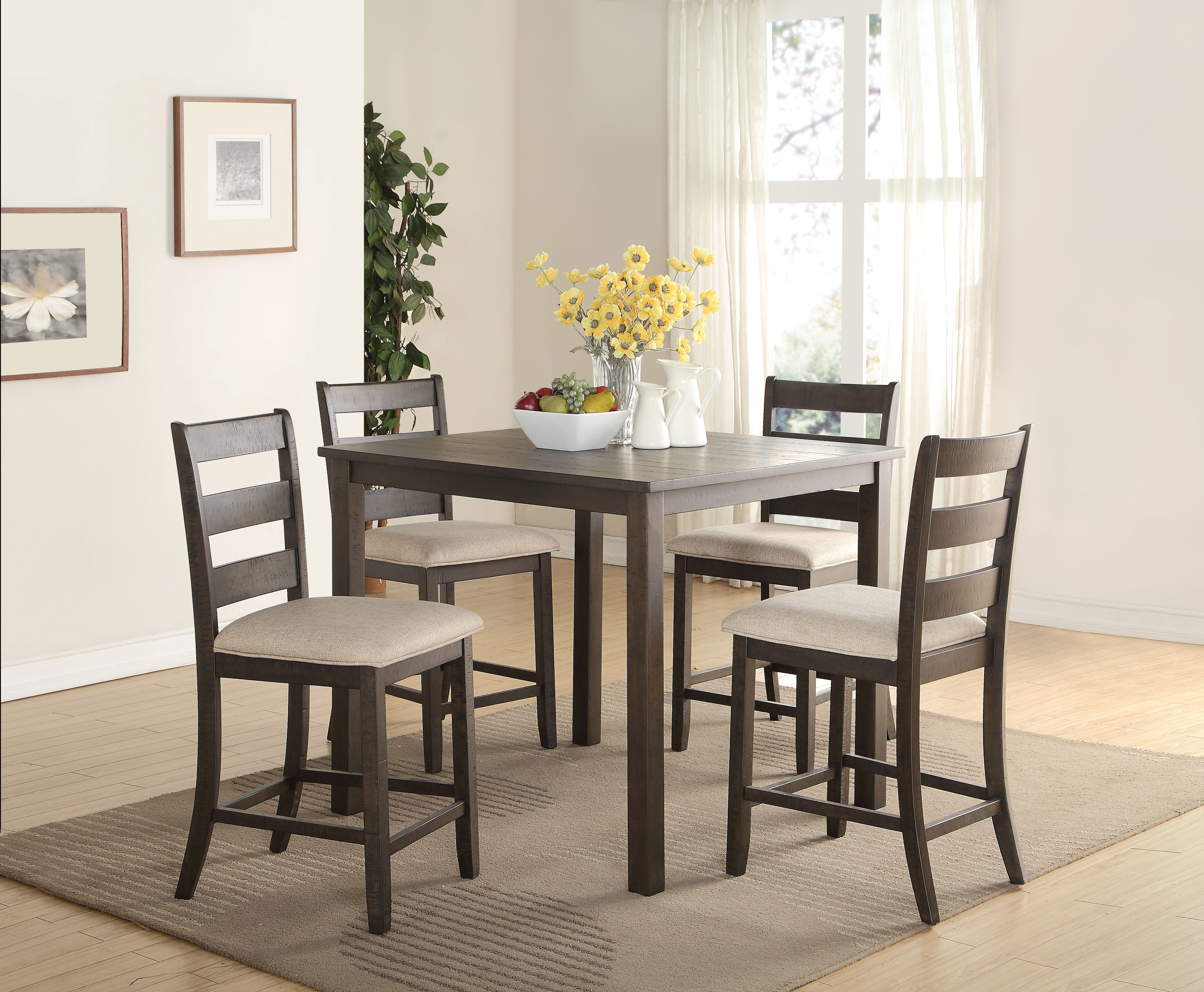 Fabulous Keesler 5 Piece Counter Height Dining Set Pdpeps Interior Chair Design Pdpepsorg