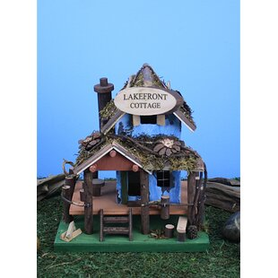 Land and Sea Lakefront Cottage 10 in x 7 in x 6 in Birdhouse