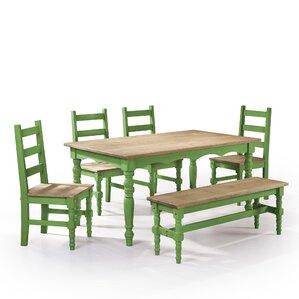 Pinard Solid Wood 6 Piece Dining Set (Set Of 6)