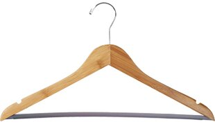 Read Reviews Bamboo Suit Non-Slip Hanger with Vinyl Bar (Set of 24) By Rebrilliant