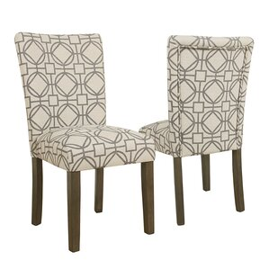 Corinne Parsons Lattice Upholstered Dining Chair (Set of 2) by Ivy Bronx