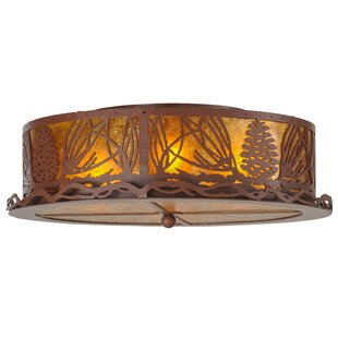 Meyda Tiffany Mountain Pine 4-Light Flush Mount