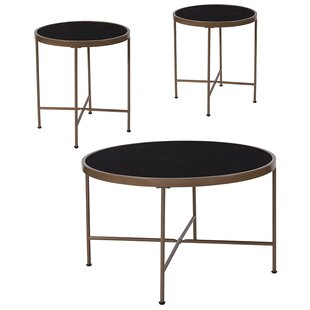 Brecken 3 Piece Coffee Table Set