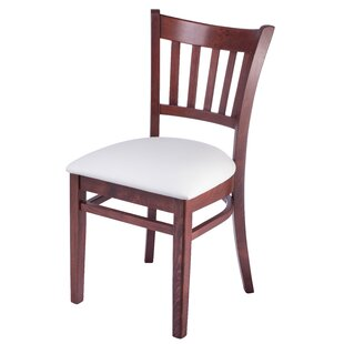 Jiles Slatback Solid Wood Dining Chair (Set of 2) Charlton Home