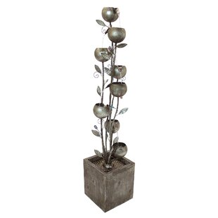 Wildon Home ® Metal Abstract Floral Cascading Tower Fountain