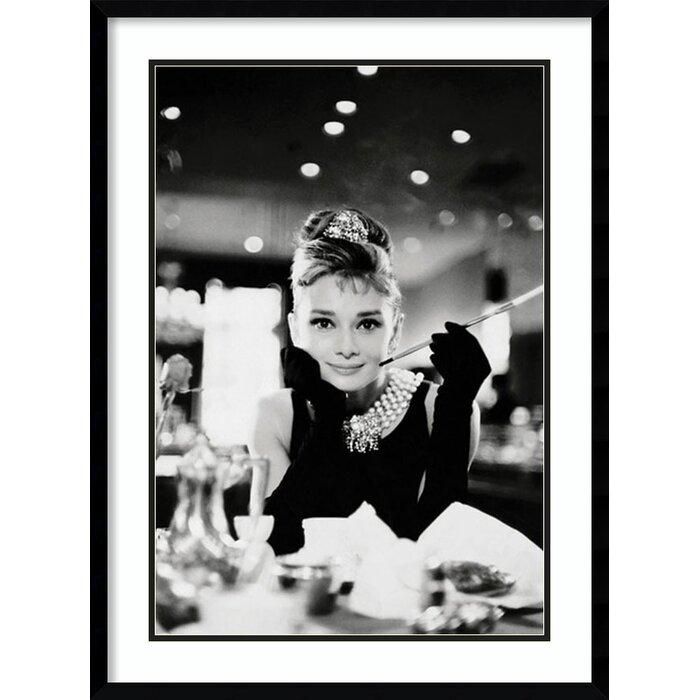 House of Hampton Audrey Hepburn Breakfast at Tiffany\'s Framed ...