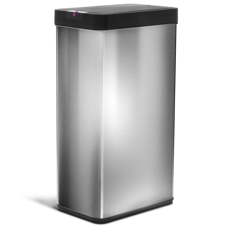 Kitchen Stainless Steel 18 Gallon Motion Sensor Trash Can