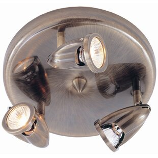 Bargain Modern Track Lights 3-Light Semi Flush Mount By TransGlobe Lighting
