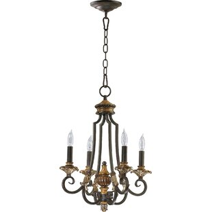 Top Capella 4-Light Candle Style Chandelier By Quorum