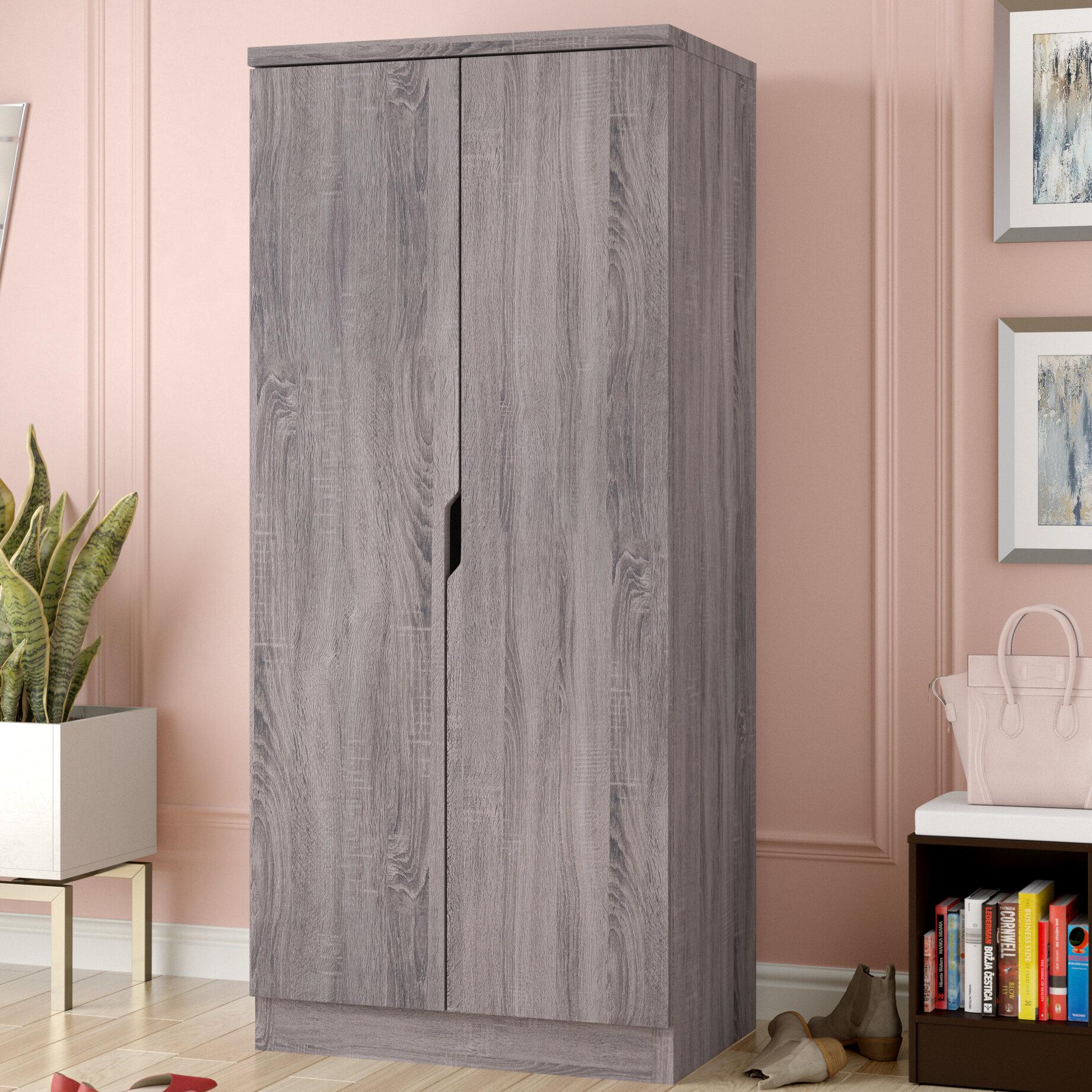 Ivy Bronx Cipriano Sophisticated 2 Magnet Closing Door Wardrobe